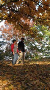 Hiking at Bernheim during the fall season