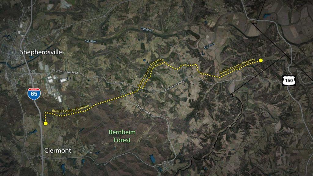 LG&E asks state to toss out Bernheim complaint over Bullitt County pipeline