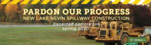 Construction on Lake Nevin spillway has begun