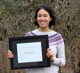 Hanah Carter receives New Volunteer Naturalist Award