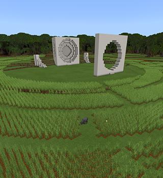 Explore the world of Bernheim Forest through Minecraft